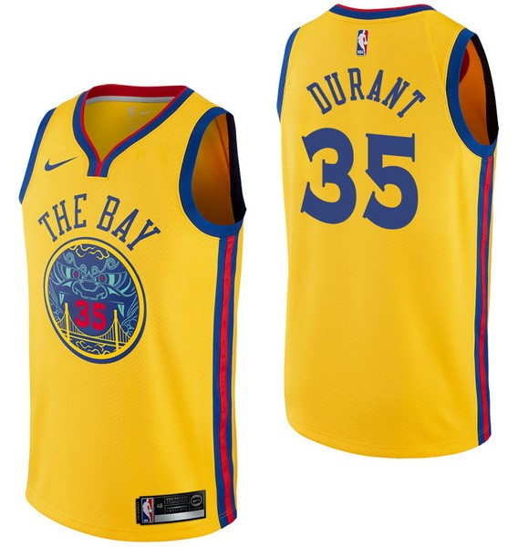 NBA Jerseys Kevin Durant 35 Nike Yellow