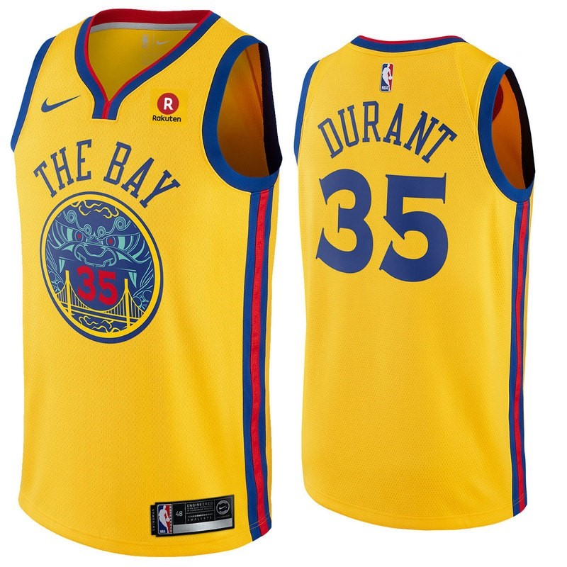 NBA Jerseys Kevin Durant 35 Yellow