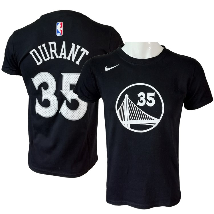 NBA Short Sleeve Kevin Durant 35 Nike Black