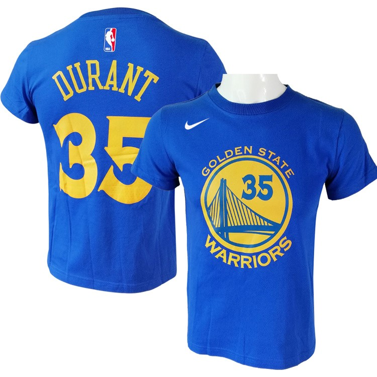 NBA Short Sleeve Kevin Durant 35 Nike Blue