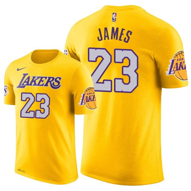 NBA Short Sleeve LeBron James 23 Gold 2018/19
