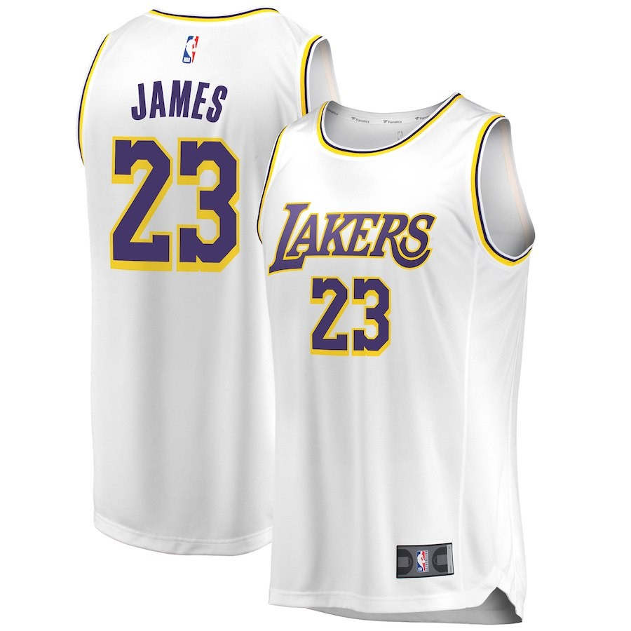 NBA Jerseys LeBron James 23 White 2018/19