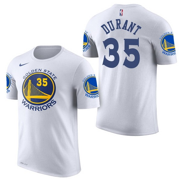NBA Short Sleeve Kevin Durant 35 White